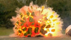 Melon explosion in super slow motion