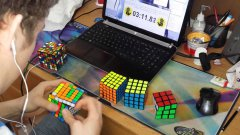 2x2 - 7x7 Rubik's Cube World Record