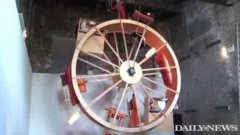 Crazy Artists Live In Human Hamster Wheel Apartment