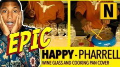 Happy by Pharrell Covered on Wine Glasses