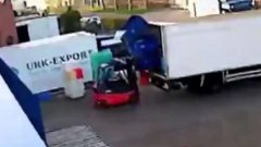 Forklift operator epic fail