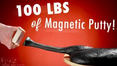 Epic Experiments With 100 Lbs Of Magnetic Putty