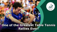 Awesome 42 Shot Table Tennis Rally