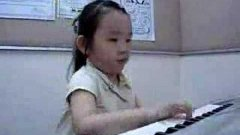 Chinese girl playing Tico Tico
