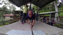 Ziplining Over Lake Sebu's Seven Falls