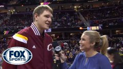 Cavs player Timofey Mozgov accidentally speaks Russian