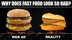 Fast Food ADS vs. REALITY Experimen