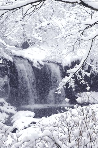 Winter waterfall