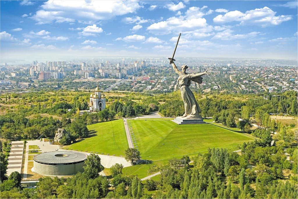 Russian statue: The Motherland Calls