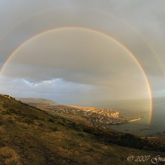 Double rainbow over Gourdon