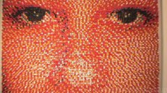 Portrait Made of 15,000 Push Pins