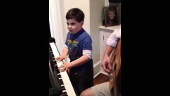 Autistic Six Year Old Plays Piano Man