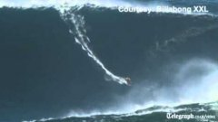Surfer Rides Tallest Wave On Record