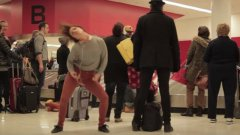 Dance like nobody's watching: airport