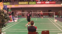 Badminton amazing shot