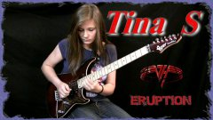 Fourteen year old girl performs Eruption guitar solo