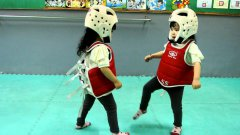 Cutest taekwondo fight