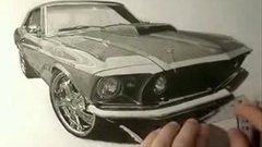 Amazing Mustang drawing