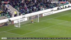Great goal from the half way line