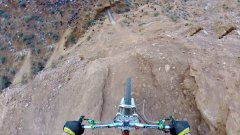 Biker Backflips Over Edge Of Canyon POV