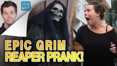 Grim Reaper Scare Prank Works Like A Charm
