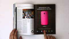 WIRED Magazine Interactive Print Ad For Moto X