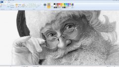 Ultra Realistic Santa Claus Drawing Made In Microsoft Paint