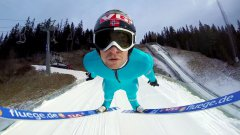 Ski Flying With A GoPro