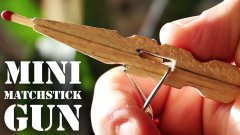 Mini Matchstick Gun made from The Clothespins