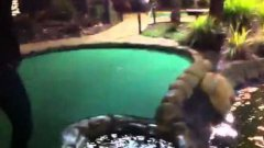 Golf Ball Floating On Water Stream Shot