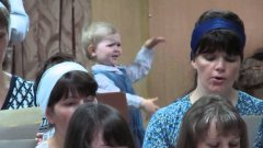 Little Girl Conducts Church Choir