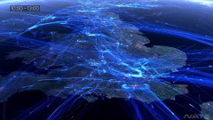 Air Travel Over Europe Visualization