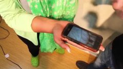 Glozell Freaks Out From Smartphone Spider On Hand Prank
