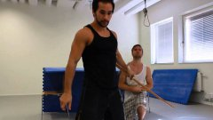 Actor, stunt performer and martial artist Tim Man shows his extraordinary skills